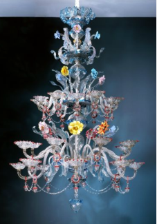 Italian Glass Chandelier 19th Century