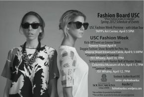 USC Fashion Board Fashion Week Schedule