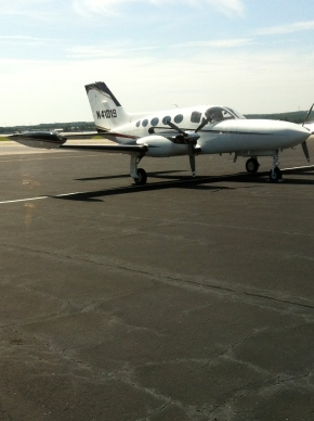 Eagle Aviation Space at Columbia Metropolitan Airport. Also, transport for the city girl's next adventure.