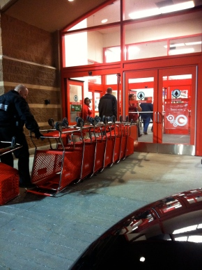 The basket barricade at Target.